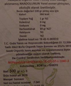 Rasayana-Organik Tam Pirinç Unu 3